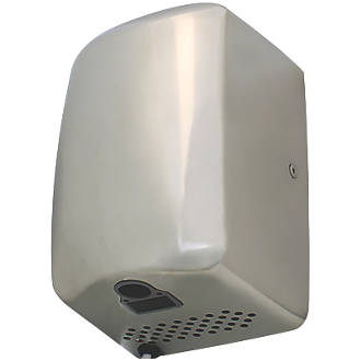 Compact High Speed Hand Dryer Polished White 1.3kW