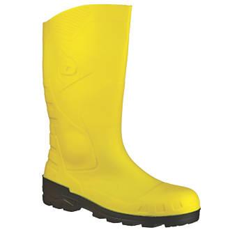 Dunlop Devon H142211   Safety Wellies Yellow Size 11