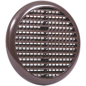 Map Vent Fixed Louvre Vent with Flyscreen Brown 145 x 145mm