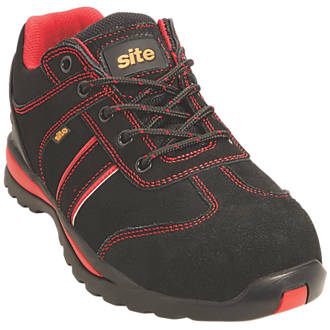 Site Coltan   Safety Trainers Black / Red Size 7