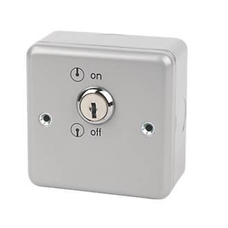 MK Metalclad Plus 20A 1-Gang DP Metal Clad Key Switch