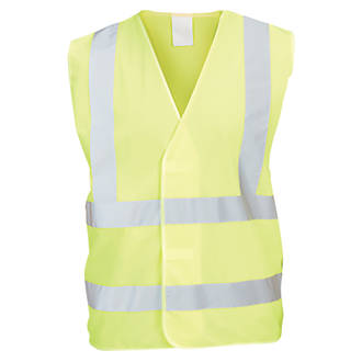 "Hi Vis Waistcoat Yellow XX Large / XXX Large 51¾"" Chest"