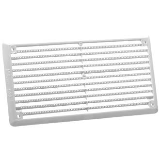 Map Vent Fixed Louvre Vent with Flyscreen White 152 x 76mm