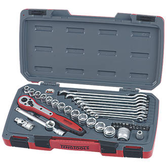 """Teng Tools  3/8"""" Socket and Spanner Set  39 Pieces"""