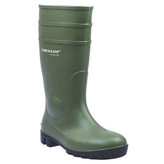 Dunlop Protomastor 142VP   Safety Wellies Green Size 3
