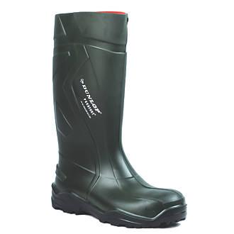 Dunlop Purofort+   Safety Wellies Green Size 11