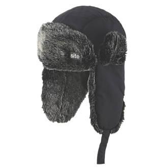 Site  Trapper Hat Black