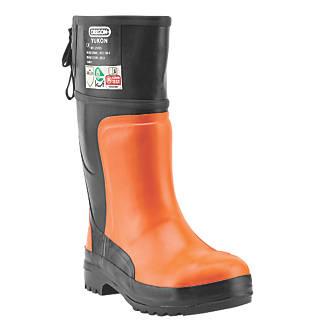 Oregon Yukon  Safety Chainsaw Boots Orange / Black Size 6.5