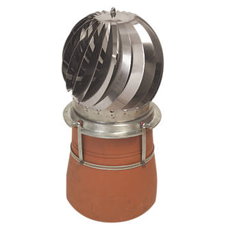 MadCowls Revolving Chimney Cowl Stainless Steel 300 x 320mm