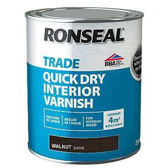 Ronseal Interior Varnish Satin Walnut 750ml