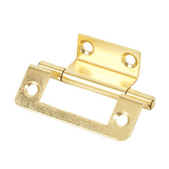 Electro Brass  Double Cranked Hinge 50 x 35mm 2 Pack