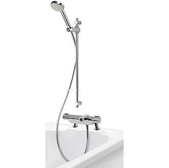 Aqualisa Midas 220 BSM Deck-Fed Exposed Chrome Thermostatic Bath Shower Mixer