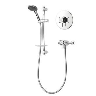 Triton Vitino Mini Rear-Fed Concealed/Exposed Chrome Thermostatic Mixer Shower