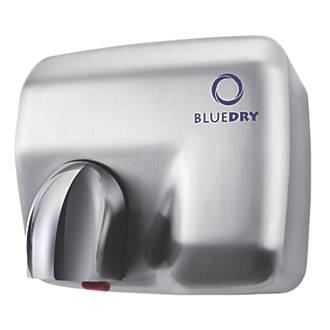 BlueDry Blue Storm Hand Dryer Brushed Steel 2.3kW