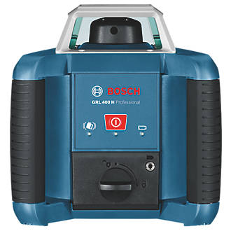 Bosch GRL 400H Red Self-Levelling Rotary Laser Level With Receiver