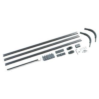 U-Shaped 4-Way Shower Curtain Rail Kit Aluminium Alloy Silver