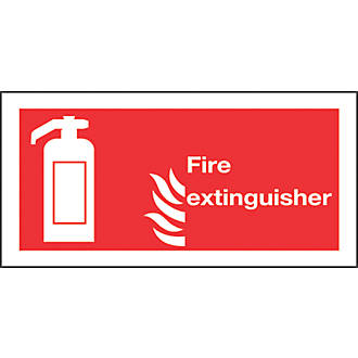 """""""Fire Extinguisher"""" Sign 100 x 200mm"""