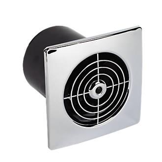 Manrose LP100SS 15W Bathroom Extractor Fan  Chrome 240V