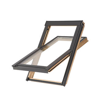Tyrem  C2A Manual Centre-Pivot Lacquered Natural Pine  Roof Window Clear 550 x 780mm