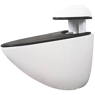 Select Adjustable Shelf Bracket White 72 x 65mm