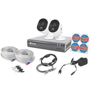 Swann   4-Channel  1080p CCTV DVR Kit & 2 Indoor & Outdoor Cameras