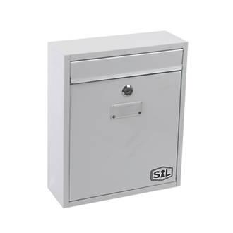 Smith & Locke Compact Post Box White Powder-Coated