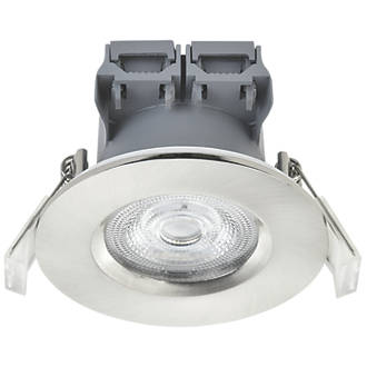 LAP  Fixed  LED Downlight Brushed Nickel 370lm 5W 220-240V