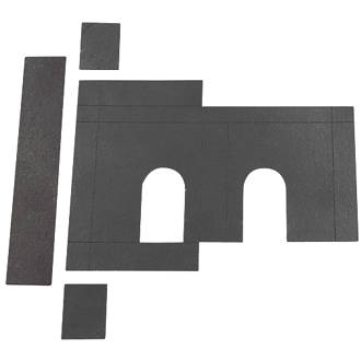 Flexifire Universal Intumescent Deadlock Kit Black 76 x 0.8 x 80mm