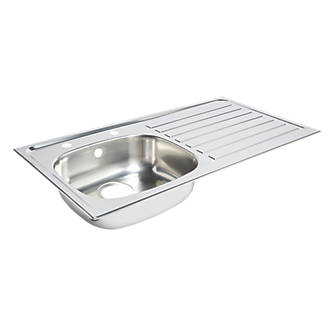 Kitchen Sink & Right-Hand Drainer Stainless Steel 1 Bowl 940 x 490mm