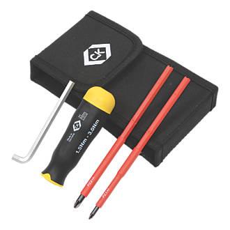 C.K  VDE Interchangeable Torque Screwdriver Set 1.5-3.0Nm 4 Pieces