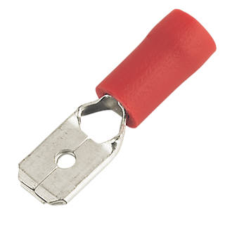 Insulated Red 0.5-1.5mm² Push-on (M) Crimp 100 Pack