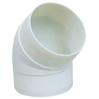 Manrose 45° Round Bend White 125mm