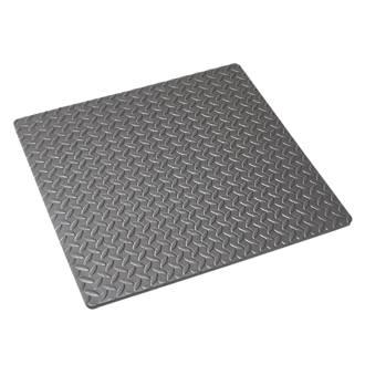 Mottez  Shock-Absorbing Floor Mat Grey 620 x 620mm