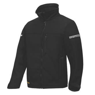 """Snickers AllRoundWork 1200 Softshell Jacket Black Large 43"""" Chest"""