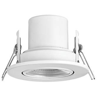 LAP CosmosEco Tilt  Fire Rated LED Downlight Matt White 500lm 5.5W 220-240V