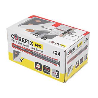 Corefix Metal 120 Heavy Duty Dot & Dab Wall Fixing 10 x 95mm 24 Pack
