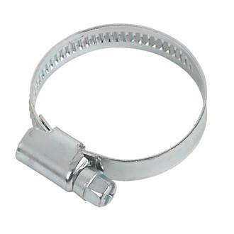 Easyfix Blue Zinc-Plated Hose Clips 25-40mm 10 Pack