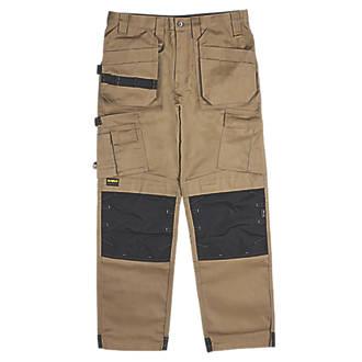 """DeWalt Pro Tradesman Work Trousers Tan 36"""" W 31"""" L"""