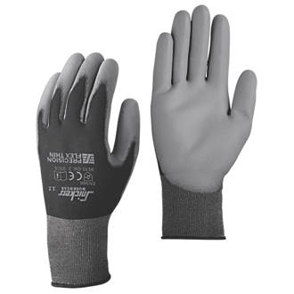 Snickers Precision Flex Light Gloves Black/Grey Large