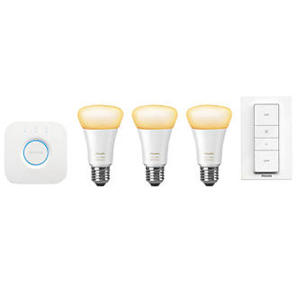 Philips Hue White Ambience Starter Kit White 9.5W 806lm 5 Piece Set