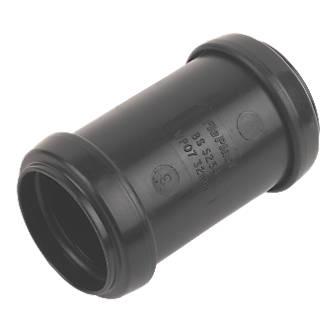 FloPlast Push-Fit Straight Coupler Black 32 x 32mm
