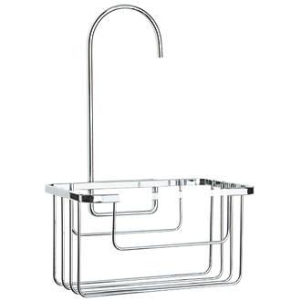 Croydex 1-Tier Hook-Over Shower Caddy Chrome