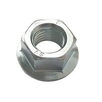 Easyfix BZP Carbon Steel Flange Head Nuts M8 100 Pack