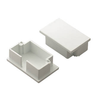 Tower  Mini Trunking End Cap 38 x 25mm 2 Pack
