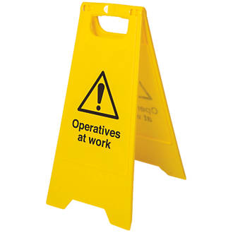 Operatives at Work A-Frame Sign 600 x 300mm