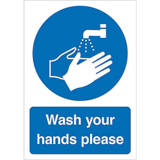 """""""Wash Your Hands Please"""" Sign 210 x 148mm"""