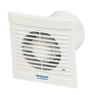 Vent-Axia 100HT 15W Bathroom Extractor Fan with Humidistat & Timer White 240V
