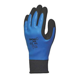Showa 306 Gloves Blue/Black X Large