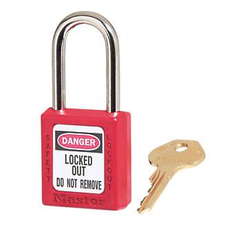 Master Lock Loto Safety Lock-Off Padlock Red 20 x 38mm