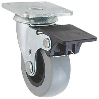 Select TPR Braked Swivel Castor 50mm